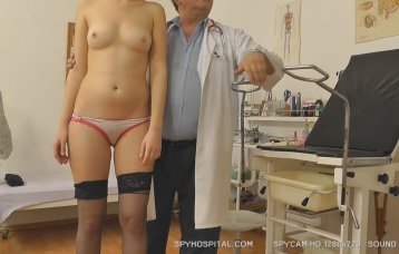 Gynaecological checkup caught with hd spy camera.