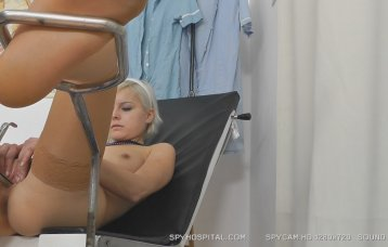 Nude missy physical exam caught on hidden cam at doctor.
